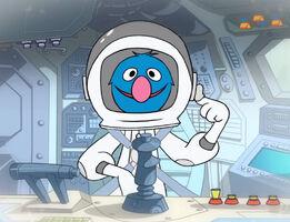 Grover astronaut animated