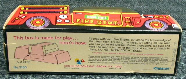 File:Child guidance muppet miniatures sesame pvc fire truck 3.jpg