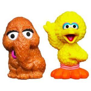 HasbroPlayskool-SesameStreet-Figures-Snuffleupagus&BigBird