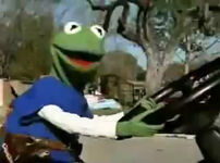 Kermit driving Extreme Makeover