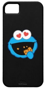 Zazzle cookie smiling face with heart shaped eyes