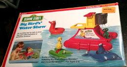 Knickerbocker 1978 big bird's water show bath toy playset 1