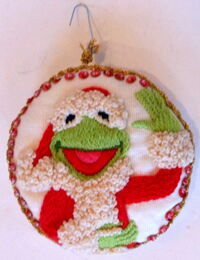 Kermit crewel ornament