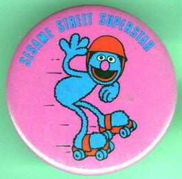 Sesame street superstar button grover 2