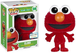 Funko-POP Elmo flocked barnes & noble