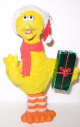 Flocked christmas ornaments 1