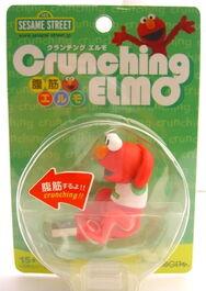 Crunching elmo