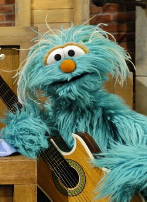 Rosita playing the guitar