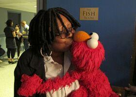 Elmo kiss whoopi