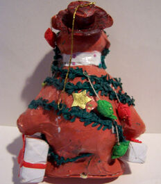Fozzie Papier Mache ornament back