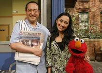 Leela, Alan and Elmo