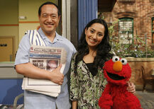 Leela, Alan and Elmo