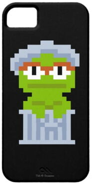 Zazzle oscar the grouch pixel art