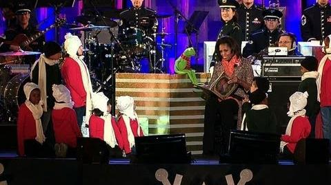 First Lady Michelle Obama Reads 'The Night Before Christmas' with Kermit the Frog