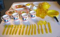 Chilton globe plastic tea set