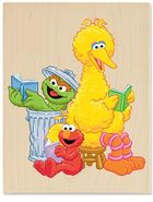 Stampabilities reading time on sesame st