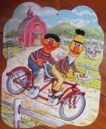 Milton bradley 1988 giant puzzle ernie bert 2