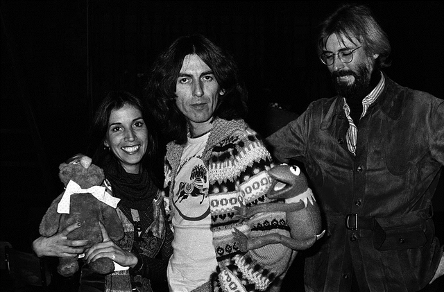 File:George Harrison and Michael Frith November 19, 1976 Saturday Night Live studios.png