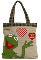 Kermit think green tote bag