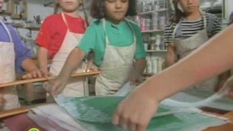 Sesame Street Papermaking Class