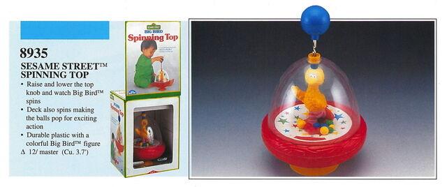 File:Illco 1992 preschool toys big bird spinning top.jpg
