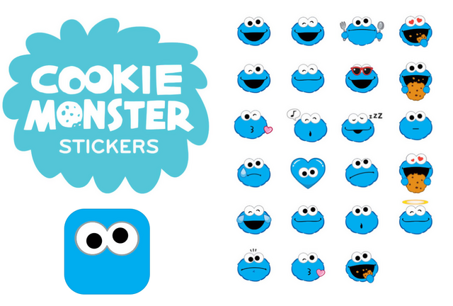 File:Cookie Monster Stickers.png