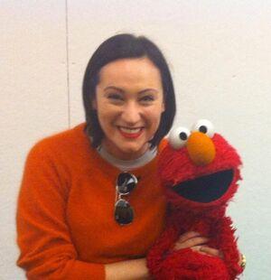 Eden and Elmo