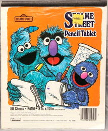 Aladdin 1977 pencil tablet