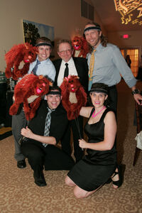 Paul Williams with the Squirrels Matt Furtado, Peter Linz, Anney Ozar and James Silson 2010
