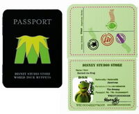 Passport pin kermit