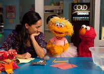 Leela, Zoe and Elmo