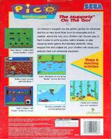Sega Muppets on the Go box back