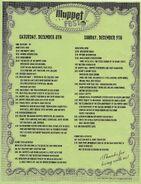 Muppetfest schedule 2