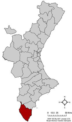 Localización e Vega Baja der Segura