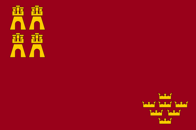 Archivo:Bandera e la Rigión e Murcia.png