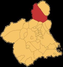 Jumilla en la Rigión e Murcia
