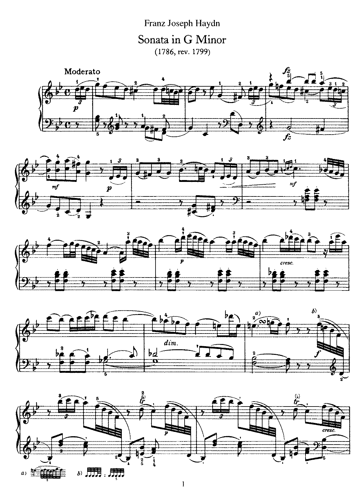 haydn piano sonata in b flat major analysis Piano sonata b flat major k 570  this b flat major sonata is lacking in energy  exchange of material between the hands are somewhat reminiscent of haydn.