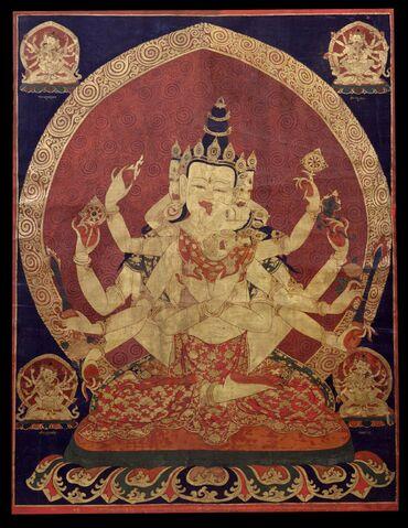 File:17th century Central Tibeten thanka of Guhyasamaja Akshobhyavajra, Rubin Museum of Art.jpg