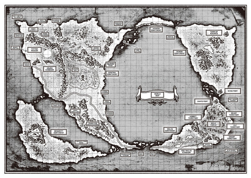 Mushoku Tensei Wold Map