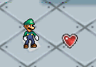 Luigi with a Heart Container
