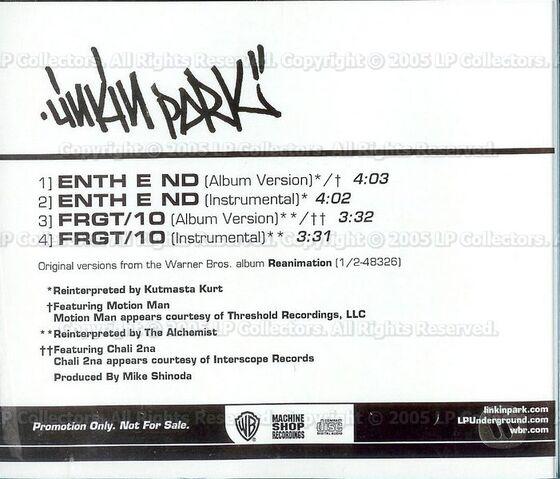 File:Linkin Park - Enth E Nd-Frgt-10 USA Radio CD (Back).jpg