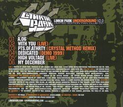 Linkin Park - Underground v2.0 Rear Cover