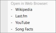 Web Links in menu