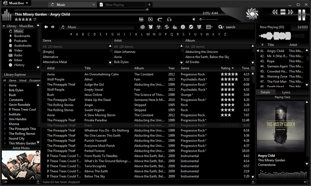Musicbee Touch Skin