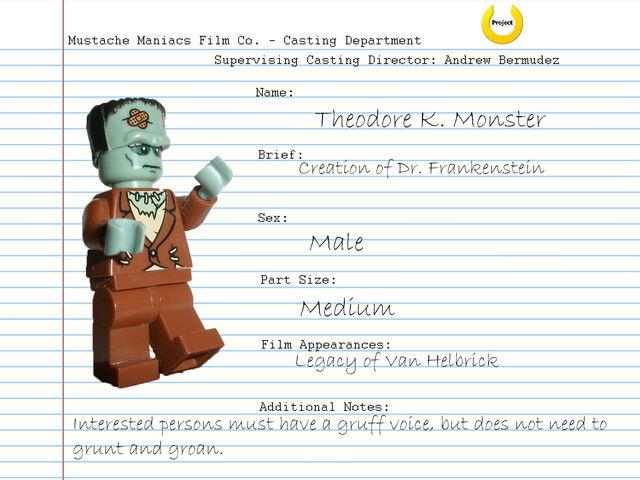 File:Audition Sheet - Theodore K. Monster.jpg