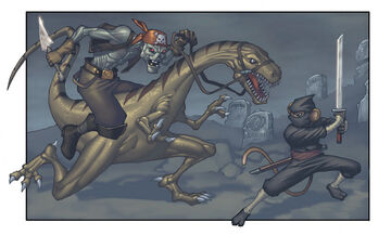 ZombiePirate VS NinjaMonkey by Ryan