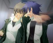 Yuuya & Leon Fighting