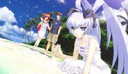 Kasumi at beach