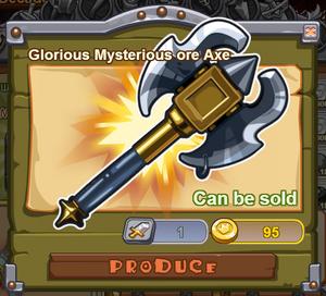 Glorious Mysterious Ore Axe