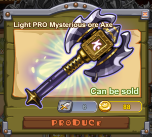 Light PRO Mysterious Ore Axe